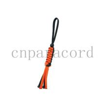 Оранжевый и черный paracord брелок 18 см
