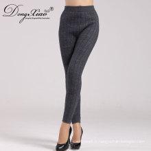 Pantalon noir en laine 100% laine mérinos avec prix moins cher
