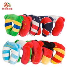 los niños coreanos divertidos al por mayor forman la almohada del cuello del viaje de la espuma de la memoria con el logotipo