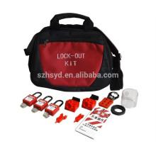 Aprobar CE Resistente impacto, corrosión, calor ABS plástico profesional con llave para dominar y al igual que la seguridad de bloqueo hacia fuera kits de etiqueta