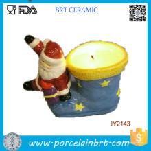 Санта-Клаус и носки держатель керамические свечи