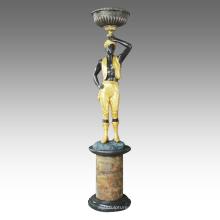 Estatua grande estatua escultura africana escultura de bronce Tpls-068/069