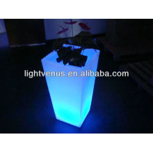 BSCI approval LED rechargeable Flower pot illuminated led lighted planter pots / plastic led flower pot