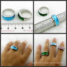 Anel de Pedra Anel de Aço Inoxidável Anéis de Pedra Preciosa