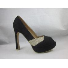 Neue Art der Mode Peep Toe Damen Sandalen (HCY03-072)