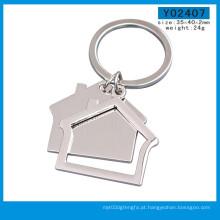 Fabricação de fábrica casa em branco logotipo personalizado chaveiro (y03792)