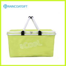 Vente en gros panier de refroidissement pliable réutilisable de supermarché extérieur