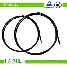 1,5 mm2/10 mm2 rotes PV-Solar-Flach-TÜV-zugelassenes PV1-F-Photovoltaikkabel