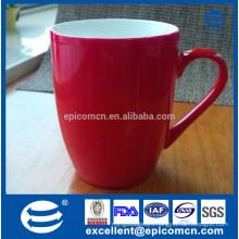 pearl shiny glazed new bone china red mug