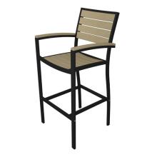 Polywood alumínio jardim ao ar livre mobiliário de Bar Stool cadeira