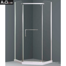 Aokeliay 900 x 900mm chemically toughened glass shower enclosure made in china