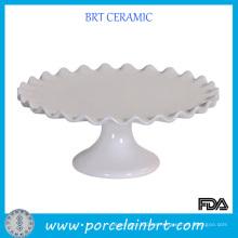Blanco Soporte caliente de la torta de boda de la venta con el borde del volante