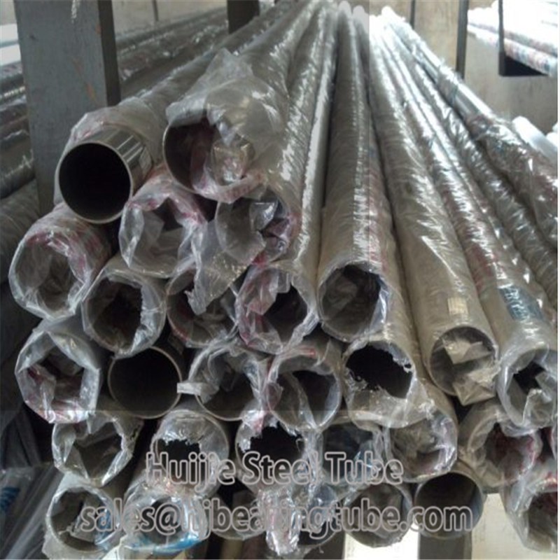 polished stainless pipes