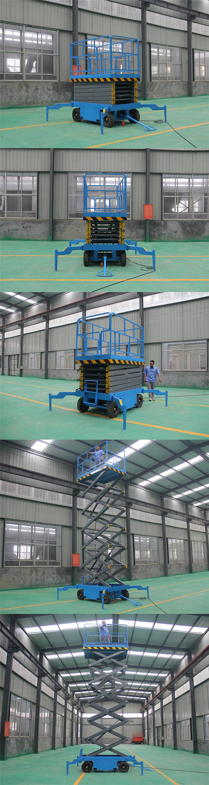 8m Hydraulic Outdoor Cargo Elevator lift