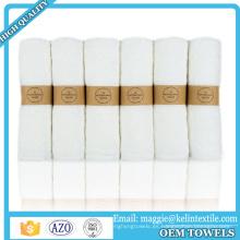 """Toalla de bambú 100% orgánica Toalla de baño 12 """"x 12"""" set"""