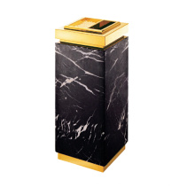 Cubo de basura de mármol y acero inoxidable para el vestíbulo (YW0056)