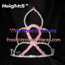 5inch Pink Ribbon Crowns Pageant Crowns