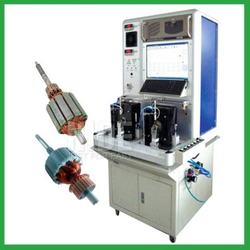 Automatic motor armature testing panel