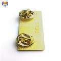 Costume personalizado do crachá do nome da identificação do metal do ouro