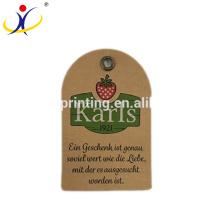 Benutzerdefinierte Marke Recyclingpapier Kraftpapier Kleiderumbau mit Prägung