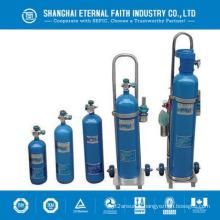 Aluminium Petit cylindre d'oxygène portable Cylindre de gaz d'oxygène médical