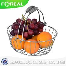 Fácil de limpar cesta de frutas de fio de Metal