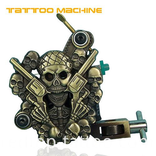 human skeleton tattoo machine