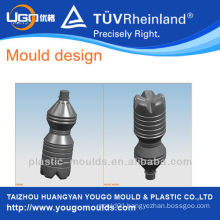 PET bottle blowing mould design and processing