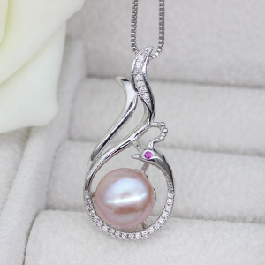 Drop Cultured Freshwater Pearl Pendant 9-10mm AAA