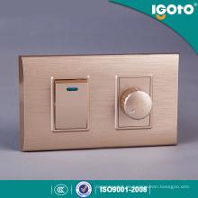 American Standard Golden Frame 1 Dimmer Schalter und 1 Gang Wall Switch Gebrauch für Haus