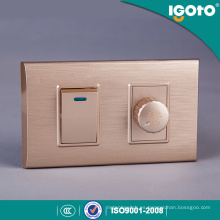 Interruptor del atenuador del marco de oro americano estándar 1 y interruptor de la pared de la cuadrilla 1 uso para el hogar