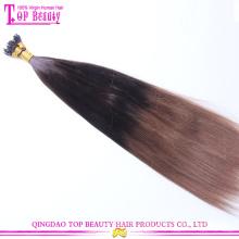 Top Schönheit Haare Versorgung Chinesisches Haar Blond 100 Keratin gekippt, menschliches Haarverlängerung