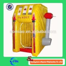Caixa de dinheiro inflável, máquina de dinheiro inflável anunciando venda