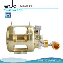 Angler Select Twilight Sea Fishing Aluminium 8+1 Bearing Sound Alarm Trolling Fishing Reel (Twilight 300)