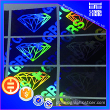 Folha de etiqueta customizada 3d Hologram Sticker