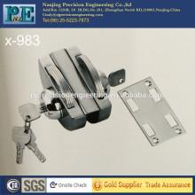 983 mitad redondo de acero inoxidable fabricación de latón de bloqueo de doble cabeza de bloqueo para puerta de vidrio único