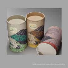 Custom Design Tube Tea Packaging Box / Cilindro Caixa
