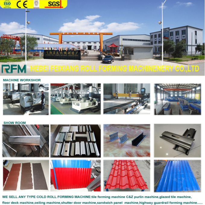 Metal roof glazed tile making forming machine