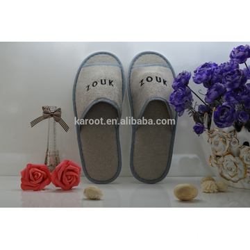 cheap soft personalized open toe chinese custom embroidered hotel slipper