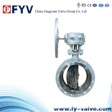 Wafer Type Cast Steel Metal Seat Butterfly Valves