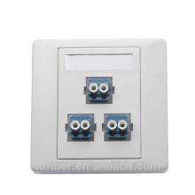 Ftth 3 puertos duplex LC caja de conexiones de fibra / socket