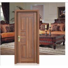 Cor de noz Design simples Porta de madeira sólida