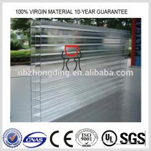 feuille de couverture transparente en polycarbonate lexan