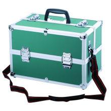 Caja duradera personalizable con marco de aluminio con cerraduras