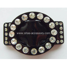 Hot-sell Rhinestone Shoe Buckle, Plastic Shoe Flower, Acrylic Dress Buckle