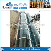 1000KGS, 1.75m/s MRL Round Glass Panoramic Lift
