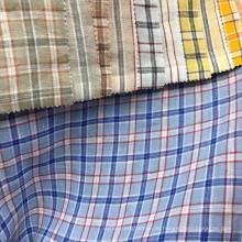 Shirt Kleid fancy Plaid Check bequemes natrual 100% Leinengewebe