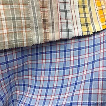 Carreaux robe fantaisie carreaux vérifier confortable natrual 100% lin tissé