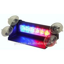 6 LED Auto Led Strobe Light Led Dash Warning Light with Visor