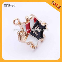 MPB20 Super quality unique company logo gold metal pin badges for clothing
